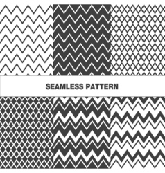 Collection of seamless pattern zigzag vector