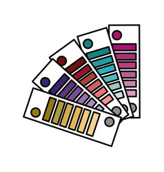 color palettes painted decoration design vector image