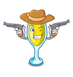 Cowboy mimosa character cartoon style vector