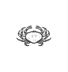 Crab hand drawn sketch icon vector