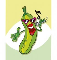 Cucumber singing vector