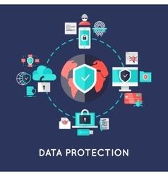 Data protection international system design vector