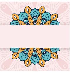 Decorative floral mandala ethnicity artistic vector