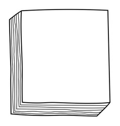 Decorative frame a stack notes for decoration vector