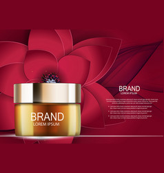Design cosmetics product template for ads o vector