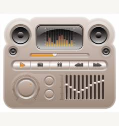 digital audio mp3 player vector image