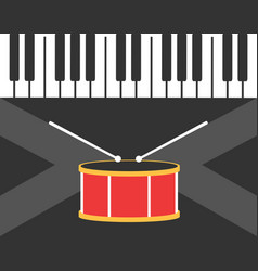 Drum and piano vector