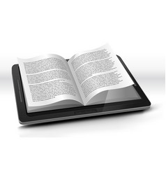 e-reader in tablet pc vector image