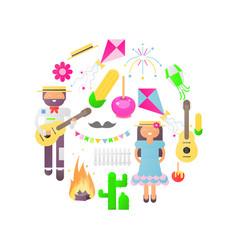 festa junina objects vector image
