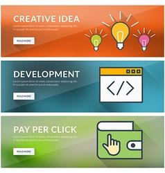 Flat design concept for creative idea development vector