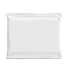 flexible bag of foil in gray color food snack vector image