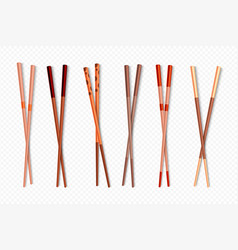 food chopsticks wooden chinese sticks for asian vector image