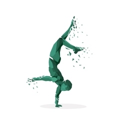 Geometric particle run dance people vector