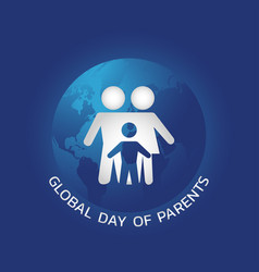 global day of parents vector image