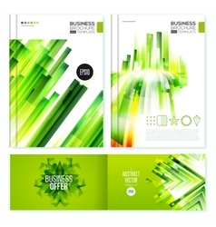 Green Abstract Brochure design set vector