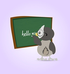 Green chalkboard for school Cartoon chalkboard and vector