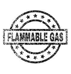 Grunge textured flammable gas stamp seal vector