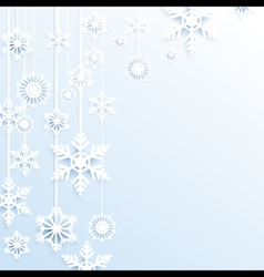 Hang christmas snowflakes background vector image vector image
