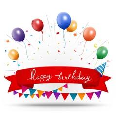 Happy birthday celebration vector image
