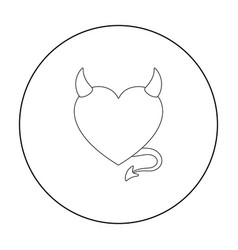 Heart icon in outline style isolated on white vector