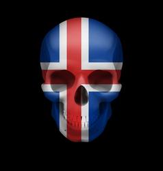 Icelandic flag skull vector