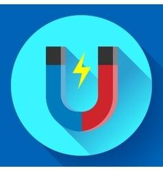Icon horseshoe magnet symbol magnetism vector