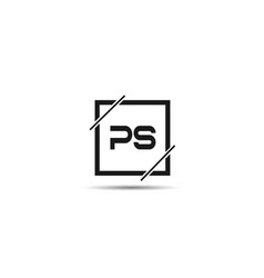 Initial letter ps logo template design vector