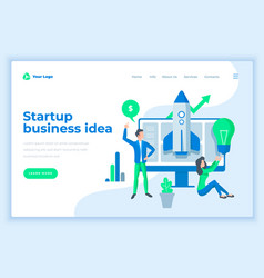 landing page template startup business ideas vector image