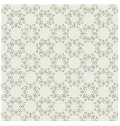 Light olive seamless pattern with vintage vector