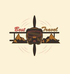 logo best travel vector image