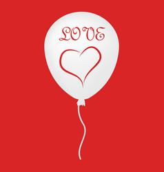 Love ballon icon vector