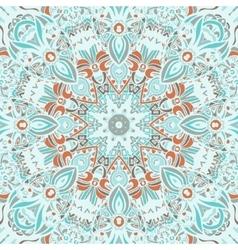 Mandala lace seamless pattern design vector
