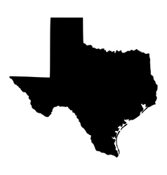Map us state texas vector