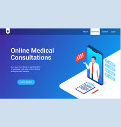 medical consultations 3d template vector image