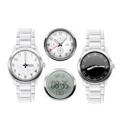 Men wrist watch 3d set vector