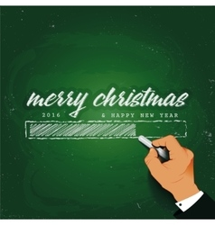 Merry Christmas Loading Hand writing with chalk on vector image