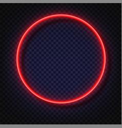 neon light round banners light frame vector image