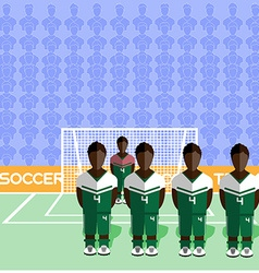 Nigeria Soccer Club Penalty on Stadium vector
