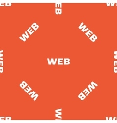 Orange WEB pattern vector image