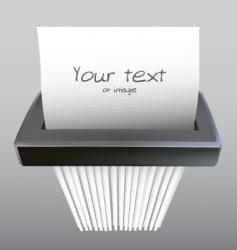 Paper shredder vector