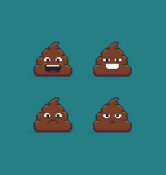 pixel art poop vector image