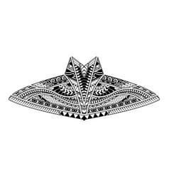 Polynesian body style tattoo ornament vector