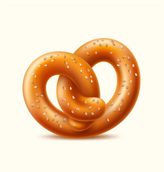 realistic pretzel german snack for beer vector image