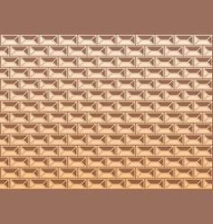 renaissance facade geometric pattern yellow vector image