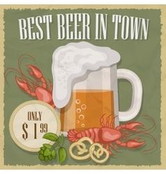retro beer free label vector image