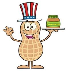 Royalty free rf clipart american peanut cartoon vector