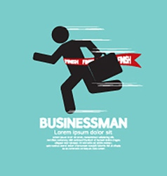 Running Businessman Symbol vector