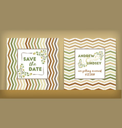 save the date wedding invitation double-sided vector image