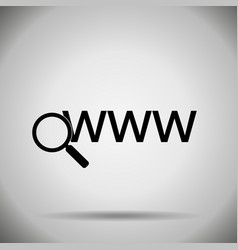 Search in web icon vector