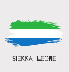 sierra leone watercolor national country flag vector image